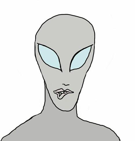 The female alien gave me a seductive lip bite | Art | Scoop.it