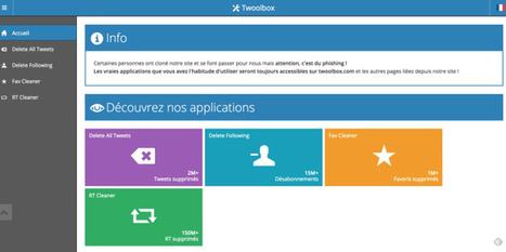 Twoolbox. Nettoyer son compte Twitter | Les outils de la veille | Orangeade | Scoop.it