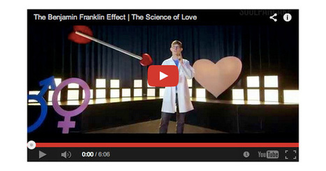 Why Love Needs Space: Applying the Benjamin Franklin Effect to Romantic Relationships | INTRODUCTION TO THE SOCIAL SCIENCES DIGITAL TEXTBOOK(PSYCHOLOGY-ECONOMICS-SOCIOLOGY):MIKE BUSARELLO | Scoop.it
