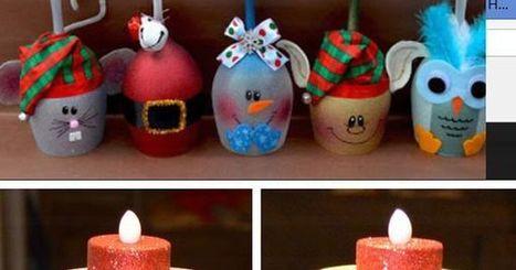 22 Brilliant DIY Glass Craft Ideas | Diddlium | Advent and Christmas | Scoop.it