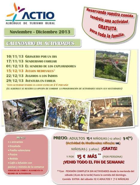 Domingos en familia (noviembre-diciembre) en el Albergue de Turismo Rural Actio | Turismo de Naturaleza, en familia | Scoop.it