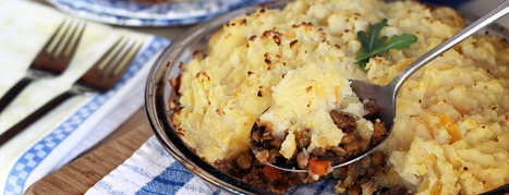 Lentil Shepherd's Pie with Rustic Parsnip Crust - Forks Over Knives | My Vegan recipes | Scoop.it