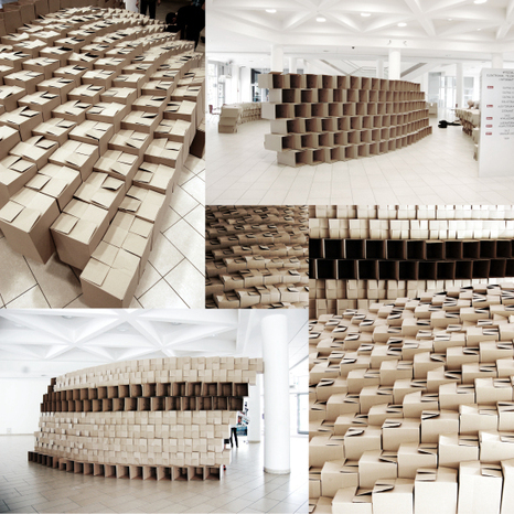Parametric architecture cardboard box installa for Architecture parametrique