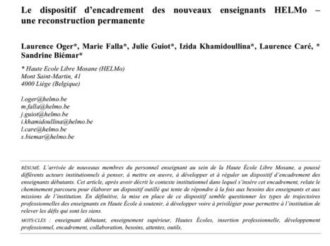 e-299 : Dans l'enseignement supérieur aussi les enseignants débutants doivent être accompagnés. Une étude menée par les enseignants liégeois HELMO | Revue Education & Formation | Scoop.it