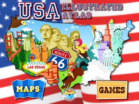 App #52: USA Illustrated Atlas - teachingwithipad.org | Cartes mentales | Scoop.it