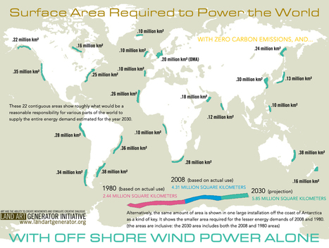 Surface Area Required in 2030 to Power the World with Offshore Wind Power Alone | Zero Footprint | Scoop.it