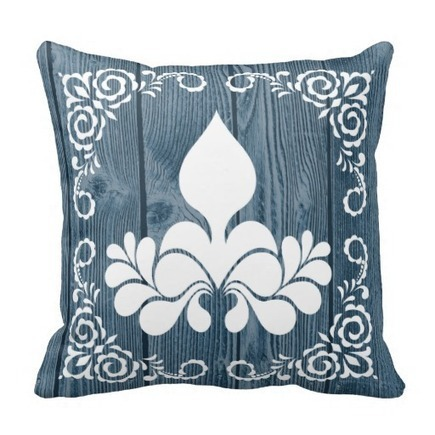 Blue Wood Pattern White Accent Pillow   Flamin Cat Designs At Zazzle   Scoop.it