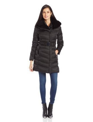 Kenneth Cole Women's Belted Down Jacket, Black, Small | Big Deals Fashion Today | Scoop.it