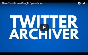 Two Handy Twitter Tools to Use in Your Google Drive ~ Educational Technology and Mobile Learning | TEFL & Ed Tech | Scoop.it