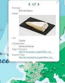 Découvrez la carte géographique des fromages produits en France | Tout le web | Scoop.it