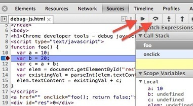 Chrome developer tools - how to debug javascript - InfoHeap | Chrome DevTools | Scoop.it