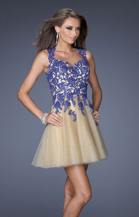Tulle Mini A-line La Femme 19753 Homecoming Dresses with Indigo Lace Embellished Bodic [La Femme 19753] - $165.00 : Prom and Homecoming Dress Online Shop Shows Various of Dresses for Anybody   BCBG & Herve Leger   Scoop.it