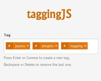 taggingJS – jQuery Plugin to Tagging Like a Charm | jQuery Plugins | Web Development | Resources | Inspirations | Scoop.it