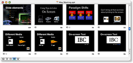 "Improve your presentations: ""Top 10 slide tips"" 