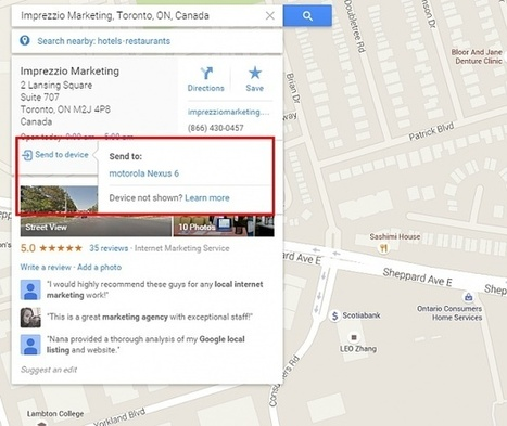 """New Google Maps """"Send to Device"""" Feature 