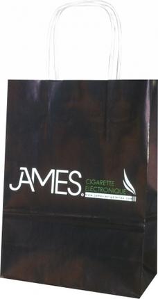 Un sac kraft pour James Cigarette Electronique   Sac papier publicitaire   Scoop.it