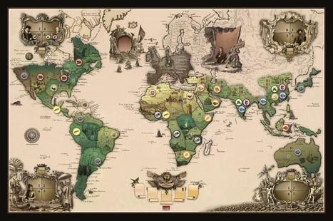 El mundo en tus manos: mapas que están detrás de los juegos de mesa | Geografía | Scoop.it