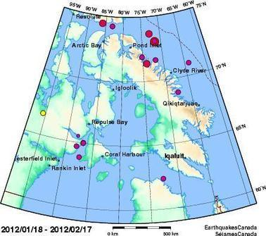 Recent Earthquakes Canada  - Southern Nunavut & Nunavik | Natural Disasters | Scoop.it