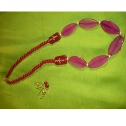 Buy Party Wear Pink Carnelian & Agate Stone Online Store - Chennai | Shopping | Scoop.it