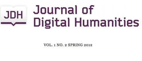 News: CHNM Launches Online Digital Humanities Journal : sideeffacts | Digital  Humanities Tool Box | Scoop.it
