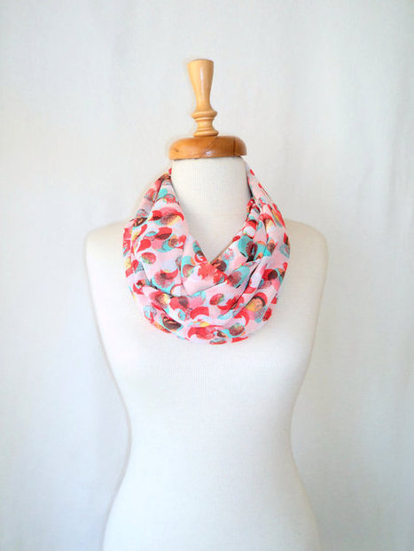 ON SALE, Chiffon Scarf ,Loop Scarf ,Women Scarf ,İnfinity Scarf, Dotto Scarf, Gift, Mint, Pink Scarf | bestbazaar | Scoop.it