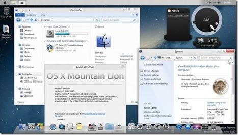 Transform Windows 7 & Windows 8 Into Mac OS X 10.8 Mountain Lion | Time to Learn | Scoop.it