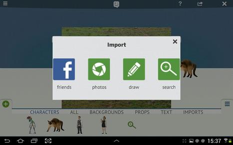 Skit: créer des histoires animées par glisser déposer sur Android | tablette Android usages pédagogiques | Scoop.it