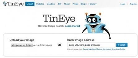 Une extension et un bookmarklet pour trouver l'origine et l'utilisation d'une image, TinEye | Time to Learn | Scoop.it