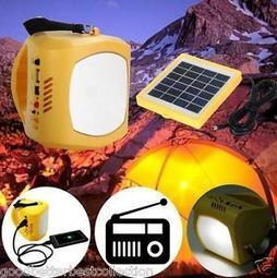 Multi-Functions LED Solar Lantern Light Lamp Outdoor FM USB Solar Power Bank | Sustainable Technologies | Scoop.it