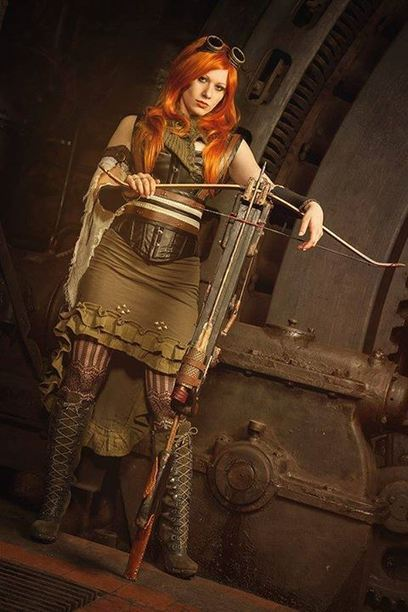 Steampunk Princess by Unholy Beauty Fotodesign - Model : Scaredy Cat - Outfit : Steampunk Princess - Steampunk crossbow : Fichtenelch Armor #Steampunk | Cosplay | Scoop.it