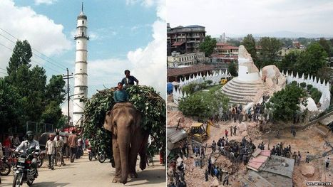 Dharahara tower, Kathmandu : 27 October 1998 and 26 April 2015 | The Blog's Revue by OlivierSC | Scoop.it