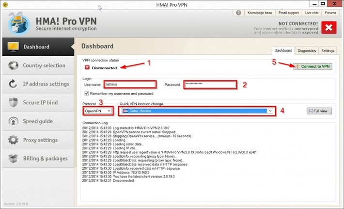 "Comment configurer le client VPN de Hide My Ass pour surfer anonymement | Veille Techno et Informatique ""AutreMent"" 