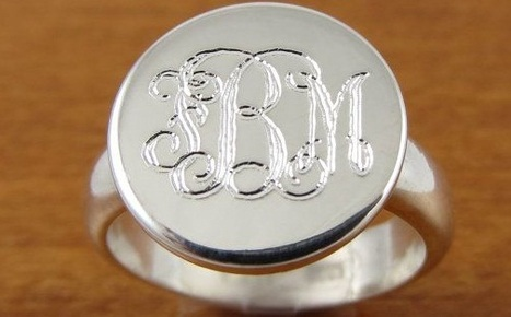 Monogram Ring, Initial Ring, Personalized Ring, Engraved Ring | Rings of the World | Scoop.it
