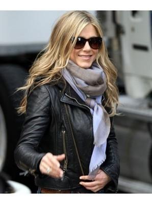 Biker Style Black Leather Jacket | Jennifer Aniston Jacket | Women's Jackets | Scoop.it