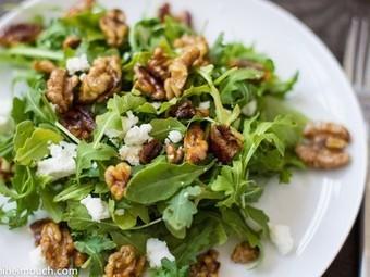 Arugula salad with thyme-toasted walnuts [Vegetarian] | My Vegan recipes | Scoop.it