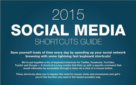 The ultimate list of keyboard shortcuts for social networking (Infographic) | World of #SEO, #SMM, #ContentMarketing, #DigitalMarketing | Scoop.it