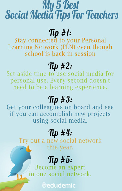 My 5 Best Social Media Tips For Teachers - Edudemic   Into the Driver's Seat   Scoop.it