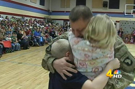 Soldier home from war surprises children at school assembly | Love Surprises | Scoop.it