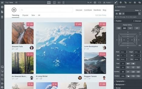 webflow, la herramienta para crear sitios de forma visual, ahora es un CMS | Utilidades TIC para el aula | Scoop.it