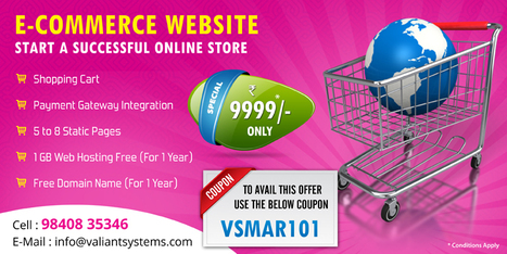 Ecommerce Website Design Offer - Valiant Systems | web design company chennai | Scoop.it