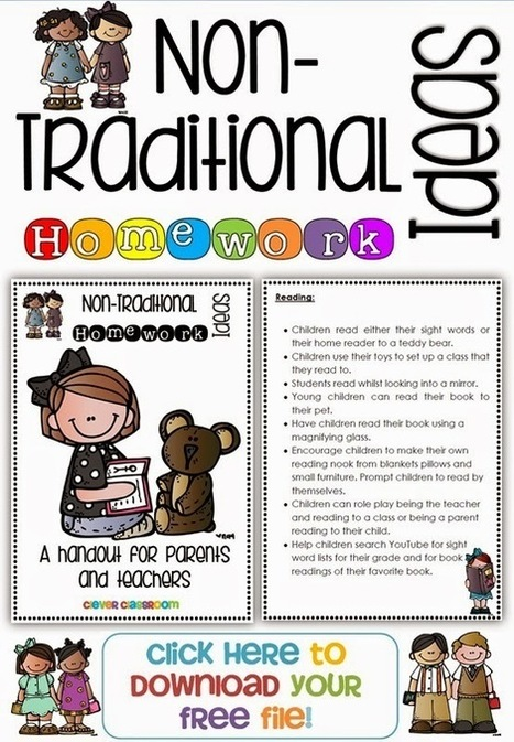 Non-Traditional Homework Idea | Parent Autrement à Tahiti | Scoop.it