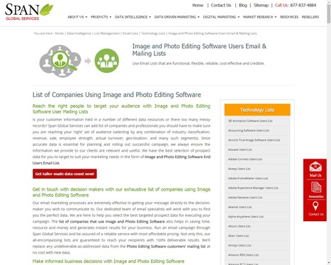 Get Image and Photo Editing Software Vendors List from Span Global Services | Span Global Services | Scoop.it