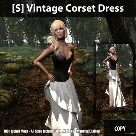 [S] Vintage Corset Dress Group Gift by [satus Inc] | Teleport Hub - Second Life Freebies | Second Life Freebies | Scoop.it