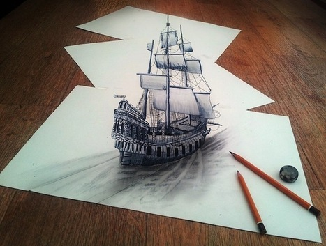 Mind-blowing 3D Drawings on paper | filipante | Scoop.it