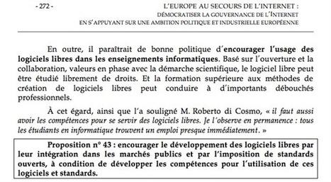 Un rapport parlementaire encourage au développement des logiciels libres | Nouvelles du monde numérique | Scoop.it
