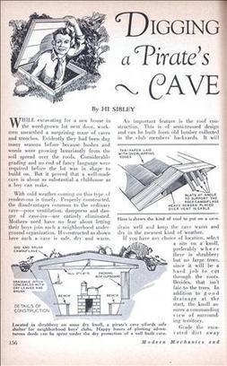 Digging a Pirate's Cave - Modern Mechanix (Dec, 1929) | Unusual Ideas | Scoop.it