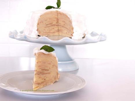 Arabafelice in cucina!: Torta di crêpes con mousse al limone e panna alla menta | Ricette & Cucina | Scoop.it