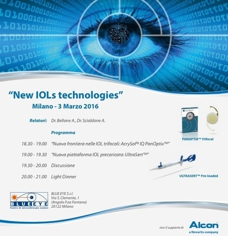 03.2016 | Workshop New IOLs technologies - Dr. Bellone | Oculista News | Scoop.it