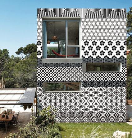 Papel pintado para paredes exteriores deco for Papel para techos exteriores