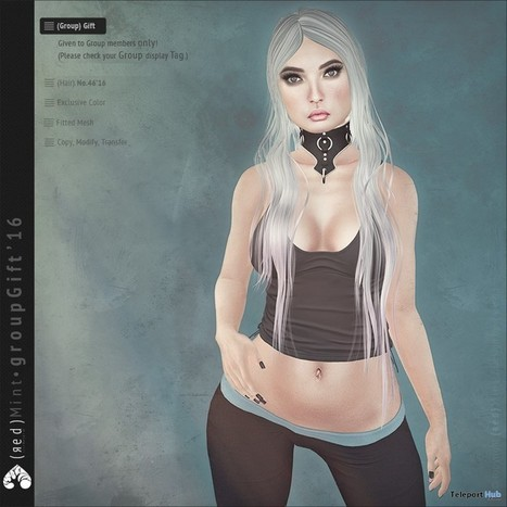 Hair No.46 October 2016 Group Gift by (red) Mint | Teleport Hub - Second Life Freebies | Second Life Freebies | Scoop.it